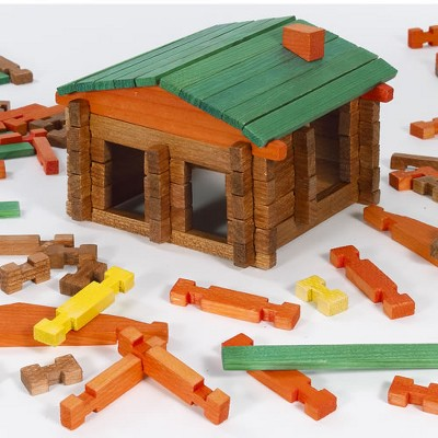 Chenille Kraft Deluxe Log Building Set