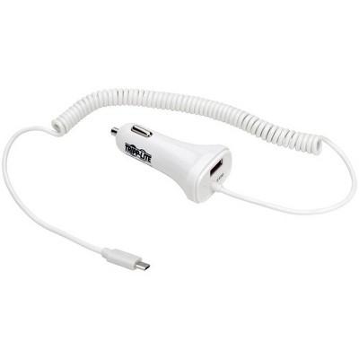 Tripp Lite Dual USB Car Charger w/ Quick Charge 2.0 for Tablets Smartphones - 12 V DC Input Voltage - 5 V DC, 9 V DC, 12 V DC Output Voltage