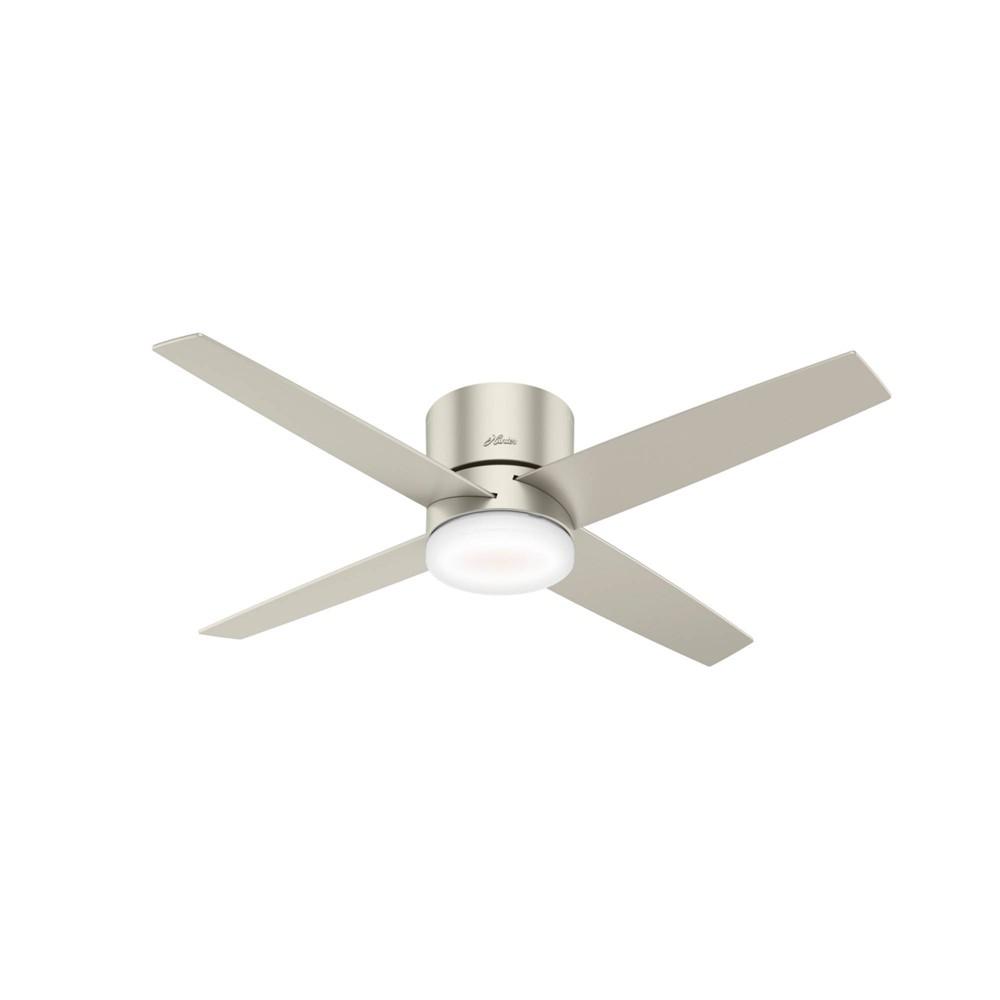 """Image of """"54"""""""" LED Advocate Low Profile Wifi Ceiling Fan with Light Matte Nickel - Hunter Fan"""""""
