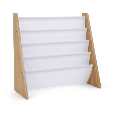 Kids Book Rack Journey Collection Natural/White - Humble Crew