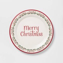 "9"" Melamine Holiday Salad Plate White - Threshold™"