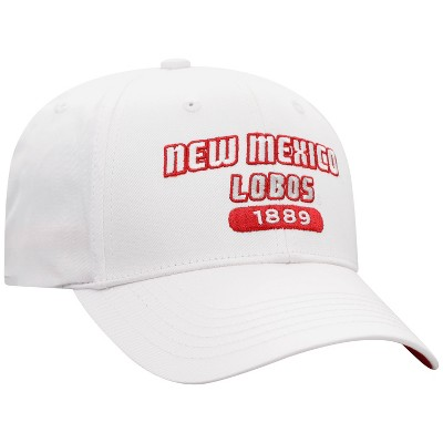 NCAA New Mexico Lobos Men's White Twill Structured Snapback Hat