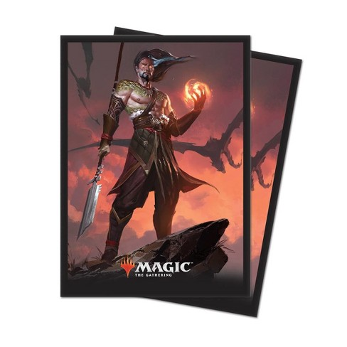 """Magic: The Gathering Core Set 2019 """"V4"""" Sarkhan, Fireblood Deck Protector Sleeves (80 count) - image 1 of 1"""