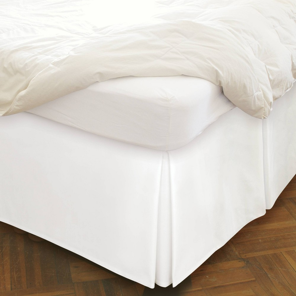 "Image of ""Queen Underbed Storage Tailored Bedskirt 21"""" Drop White - Space Maker"""
