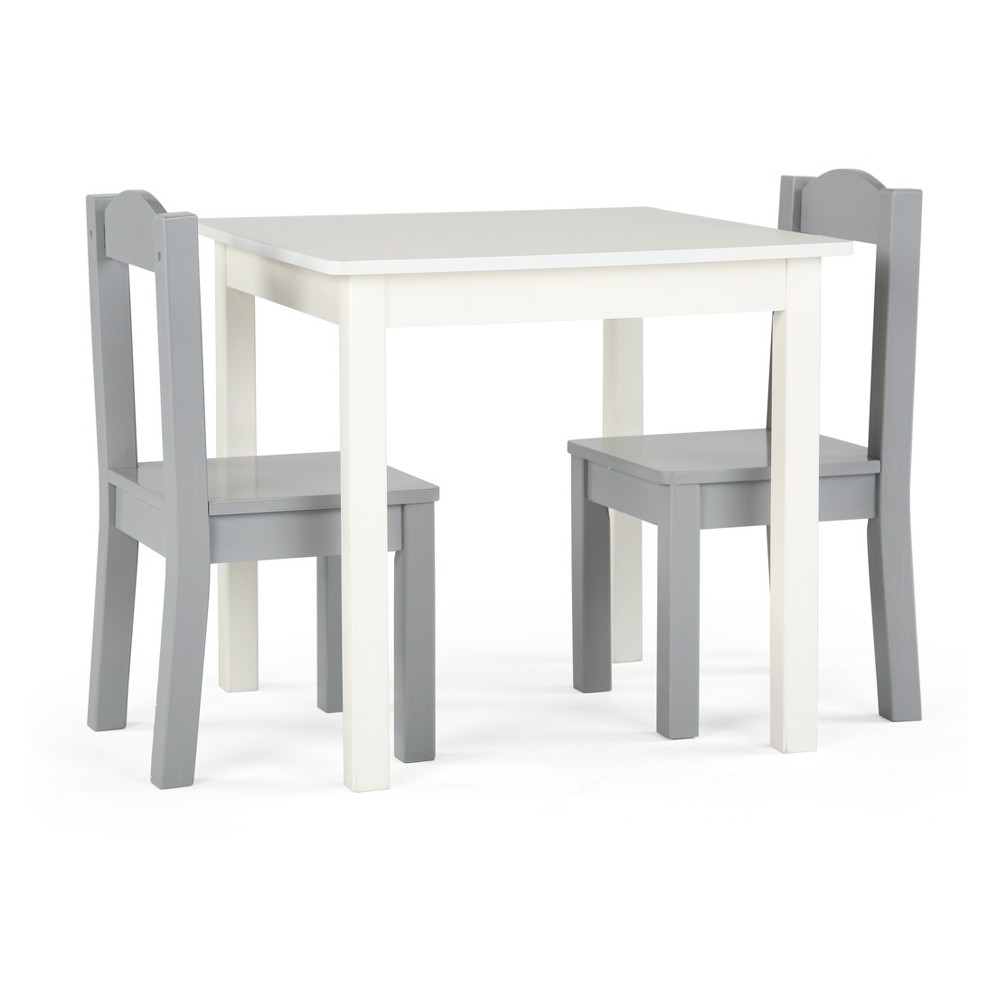 Best Price Tot Tutors 2pc Chairs With Inspire Kids Wood Table WhiteGray
