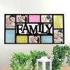"""Northlight 28.75"""" Black Multi-Size """"Family"""" Collage Photo Picture Frame Wall Decoration - image 2 of 2"""