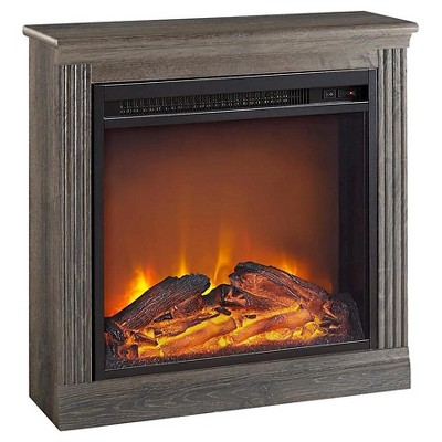 Monterrey Electric Fireplace - Medium Brown - Room & Joy