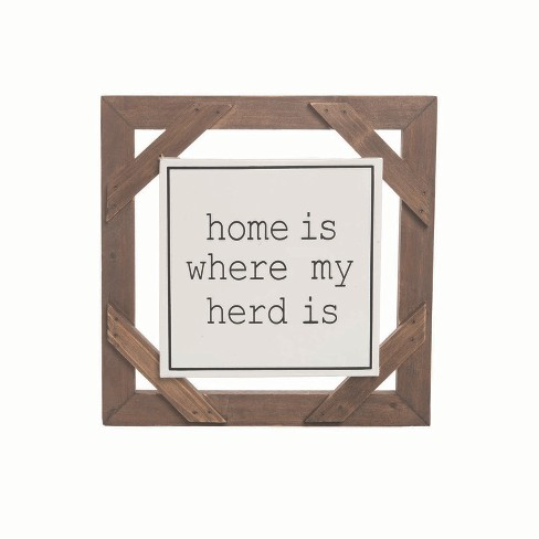 Where My Herd Is Wall Art - Foreside Home and Garden - image 1 of 2