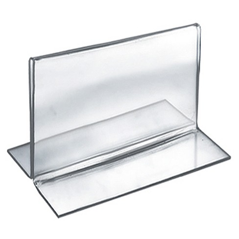 "Azar® 5"" x 3.5"" Double-Foot Acrylic Sign Holder 10ct - image 1 of 1"