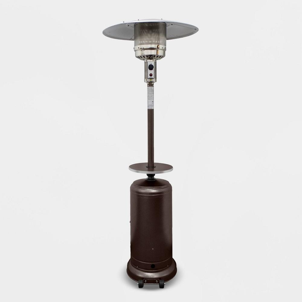 Round Aluminum Propane Fire Pit - Matte Black - AZ Patio Heaters