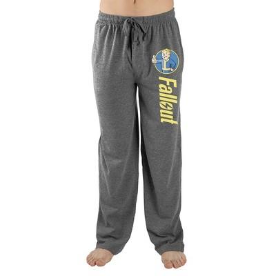 Mens Grey Fallout Logo Video Game Lounge Wear Sleep Pants