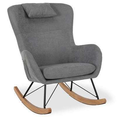 Baby Relax Dartford Rocker Chair with Storage Pockets Gray