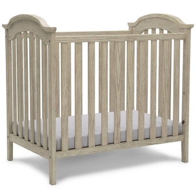 Delta Children Farmhouse Mini Baby Crib with Mattress
