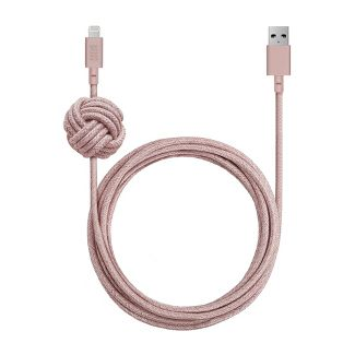 Native Union 10' Lightning Night Cable with Weighted Knot - Rose