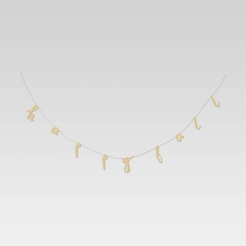 """72"""" Metal 'Happy Fall' Garland Gold - Opalhouse™ - image 1 of 2"""