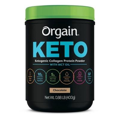 Orgain Keto Collagen Protein Powder - Chocolate - 14.08oz