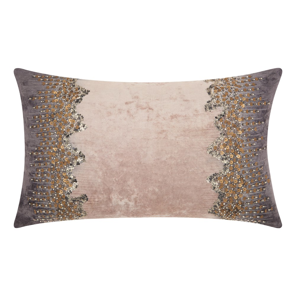 Image of Rich Charcoal Mosaic Throw Pillow - Mina Victory, Gray