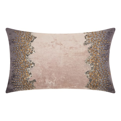 Rich Charcoal Mosaic Throw Pillow - Mina Victory - image 1 of 2