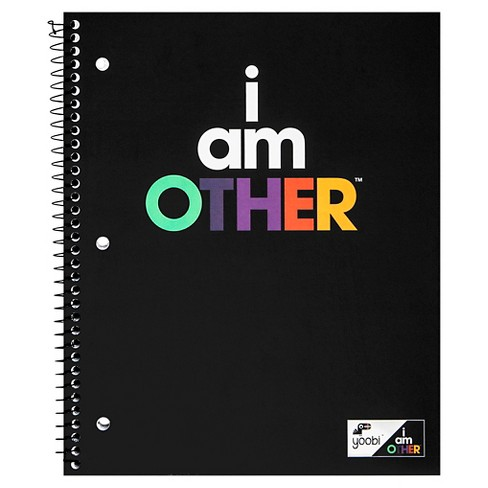 "Yoobi™ x i am OTHER Spiral Notebook, College Ruled, 1 Subject, 100 Sheets, 8.5"" x 11"" - Black - image 1 of 2"
