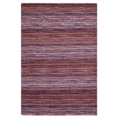 Purple Stripe Loomed Area Rug 5'X8' - Safavieh