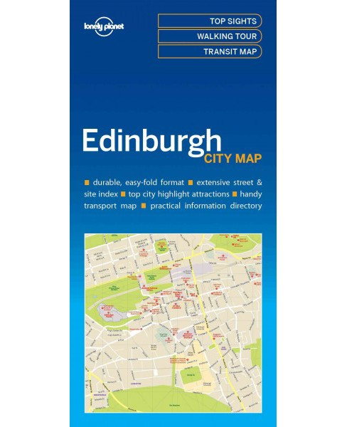 Lonely Planet Edinburgh City Map (Paperback) - image 1 of 1