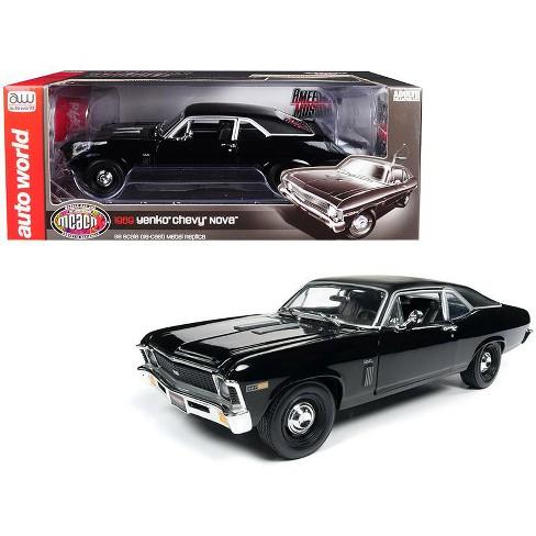 "1969 Chevrolet Yenko Nova SS Gloss Black ""MCACN"" 10th Anniversary Ltd Ed To  1,002 Pieces 1/18 Diecast Car By Autoworld : Target"