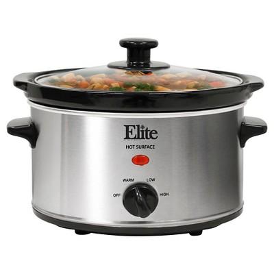 Elite Platinum Electric Slow Cooker - Medium Silver