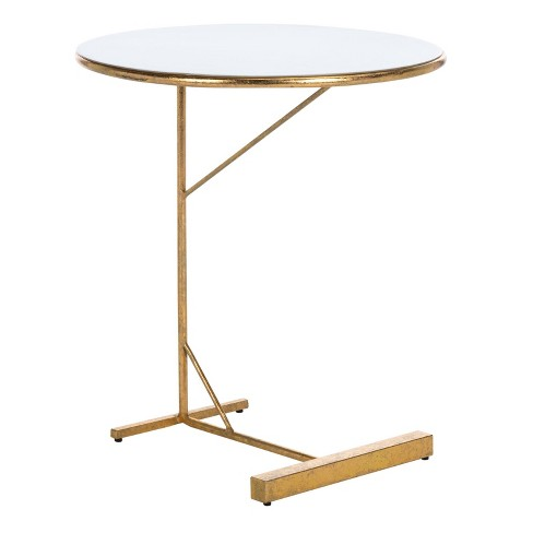 Sionne Round C Table White Gold, Round C Table