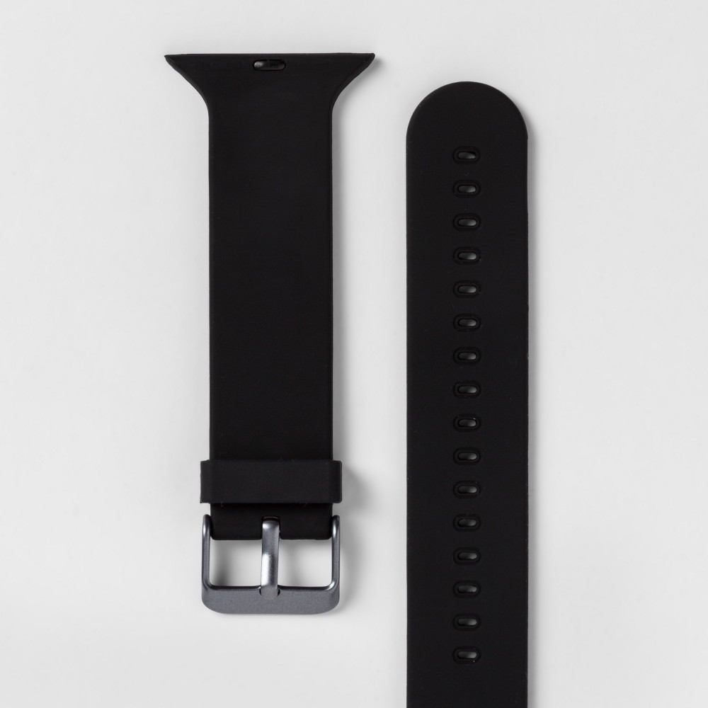 Heyday Apple Watch Band 42mm - Black, Size: 42-44mm With the Apple Watch Silicone Band from heyday, you'll be able to instantly customize the look of your Apple Watch. This Apple Watch band will give you an easy way to achieve the style you love with your favorite everyday accessory. Thanks to the silicone construction, you'll also be sure to get a comfortable fit that lets you make the most of your technology. hey, you. It's time to make your day. So take a minute to live out loud, to power your look, and let your style speak volumes. Size: 42-44mm. Color: Black. Gender: Unisex.