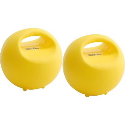 Gymnic Adjustable Exercise Bowls Set of 2 - Yellow