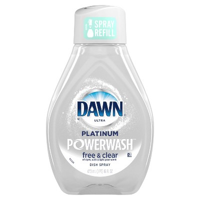 Dawn Platinum Powerwash Spray Free & Clear Refill - 16 fl oz
