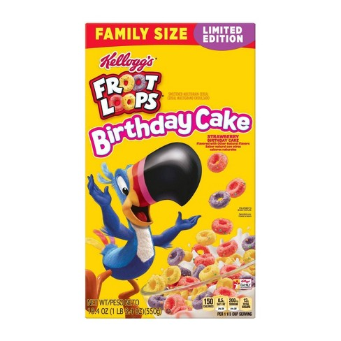 Froot Loops Birthday Cake Breakfast Cereal - 19.4oz - Kellogg's - image 1 of 4