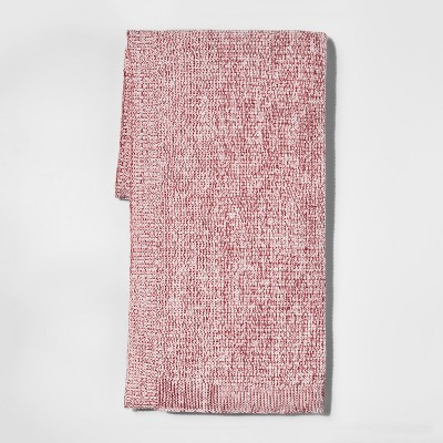 Red Marled Sweaterknit Throw Blanket 50 X60  - Threshold™