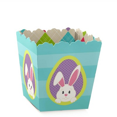 Big Dot of Happiness Hippity Hoppity - Party Mini Favor Boxes - Easter Bunny Party Treat Candy Boxes - Set of 12