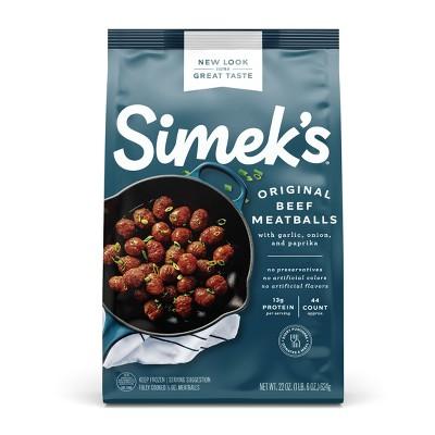 SIMEK'S Original Beef Meatballs - Frozen - 22oz
