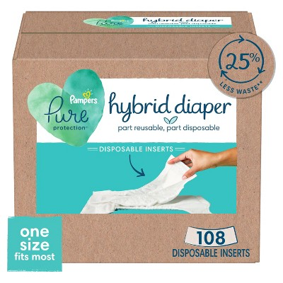 Pampers Pure Hybrid Daytime Diaper Inserts - 108ct