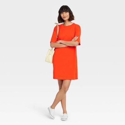 Women's Elbow Sleeve Knit T-Shirt Dress - A New Day™