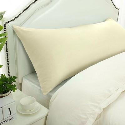 1 Pc Body 1800 Series Soft Brushed Microfiber Pillowcase Cream - PiccoCasa