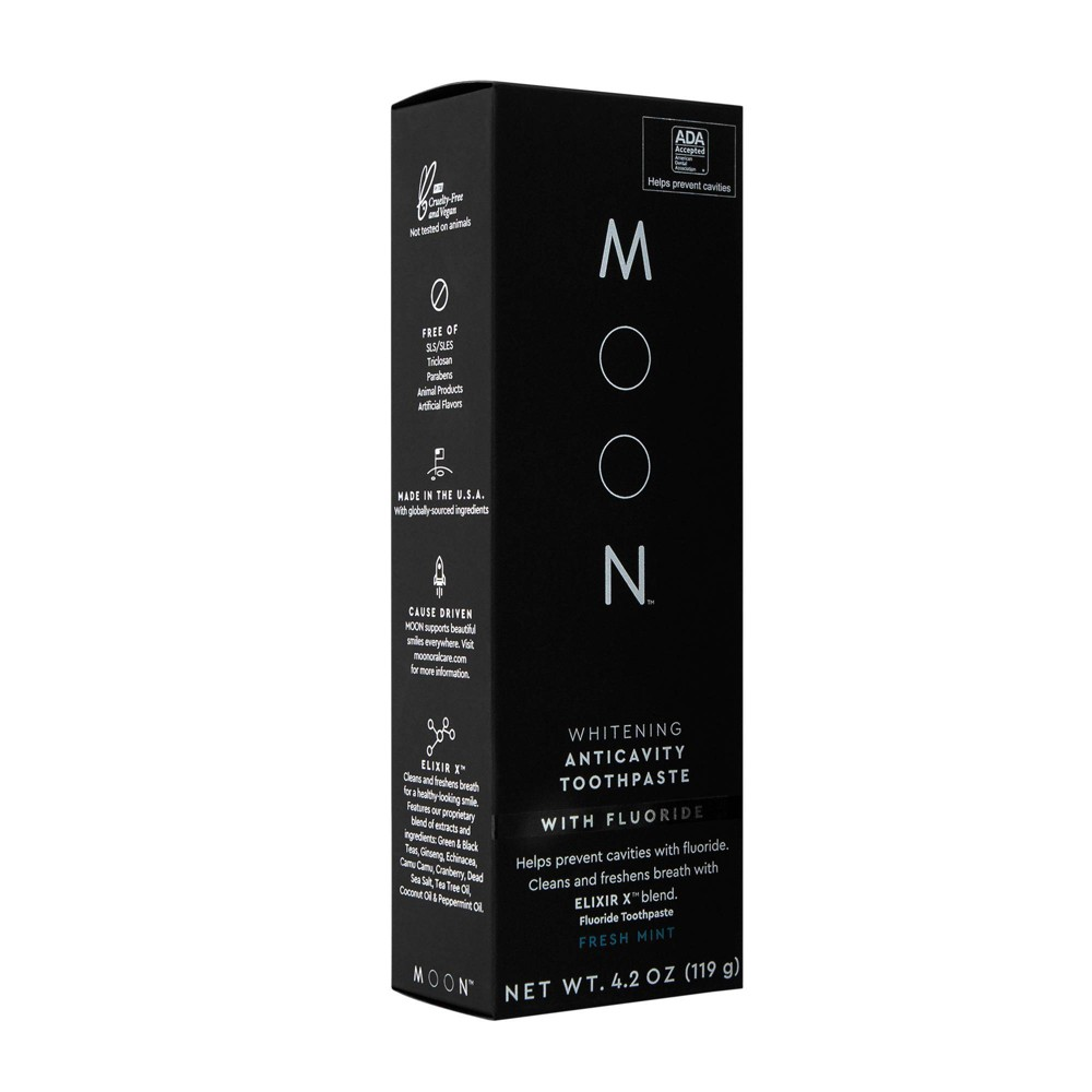 Image of Moon Anticavity With Fluoride Whitening Fresh Mint Toothpaste - 4.2oz