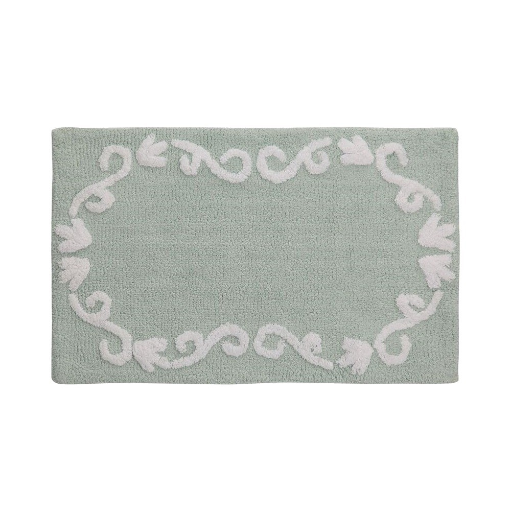 Image of Boho Floral Rug Green - Creative Bath