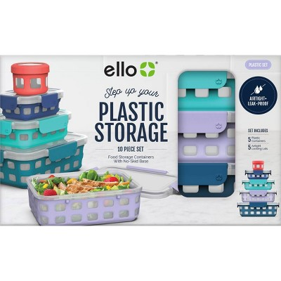 Ello 10pc Plastic Food Storage Set