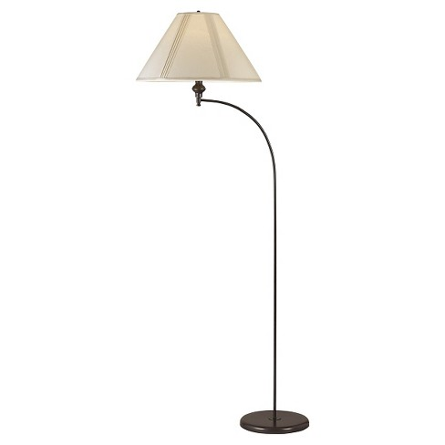 Cal Lighting Mini Arc Dark Bronze Finish Metal Floor Lamp