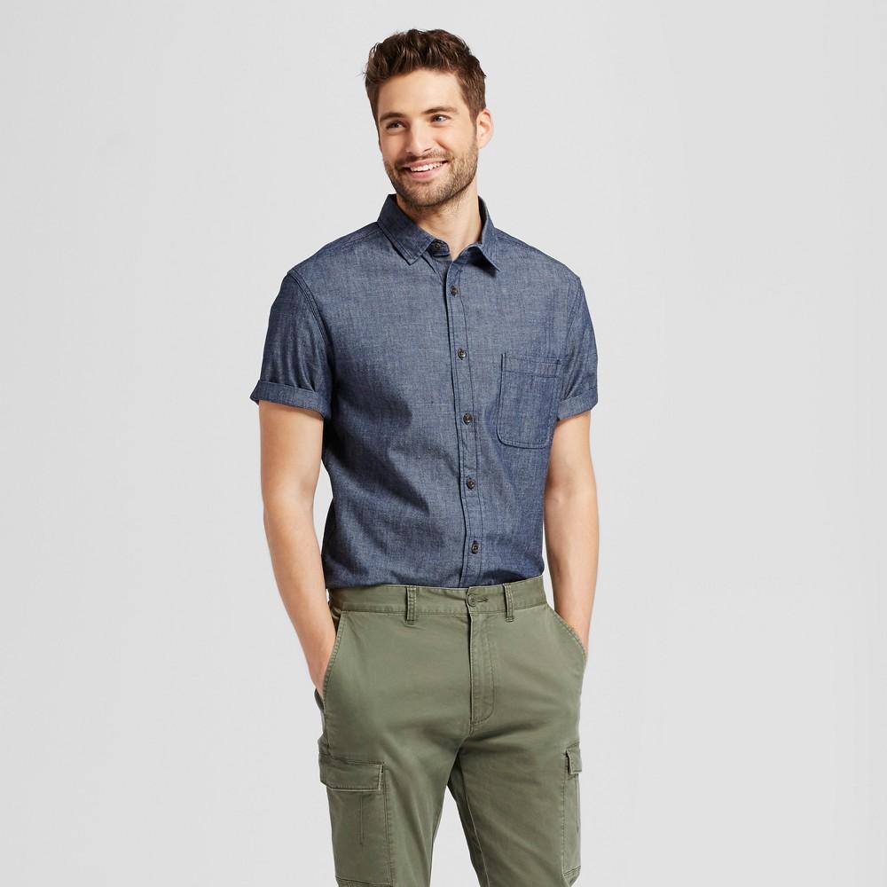 Men's Standard Fit Denim Shirt - Goodfellow & Co Blue S