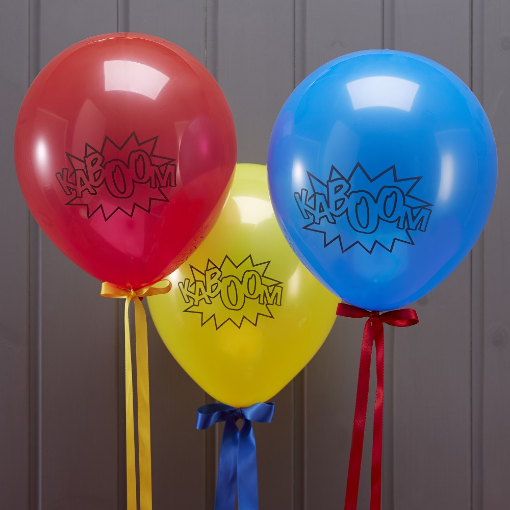 Image of 10ct Comic Superhero Balloons