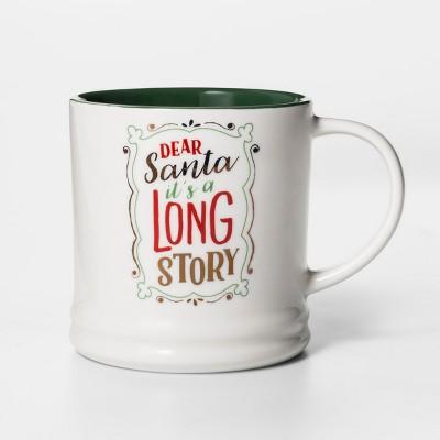 16oz Porcelain Dear Santa It's A Long Story Mug White/Green - Threshold™