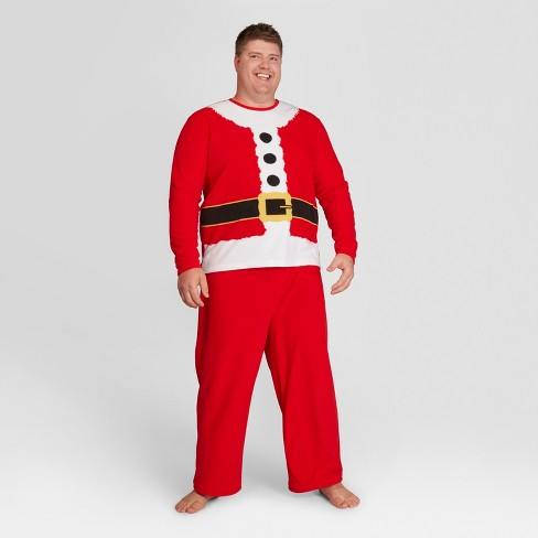 mens big tall holiday santa pajama set wondershop red