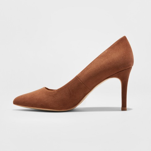 0d16b34ca6 Women's Gemma Wide Width Pointed Toe Nude Pumps - A New Day™ Cocoa 11W :  Target