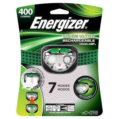 Energizer Vision Ultra Rechargeable LED Headlamp Green