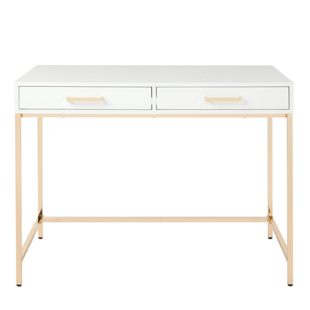 Alios Desk White Gold Osp Home Furnishings