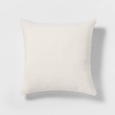 Faux Rabbit Fur Throw Pillow - Threshold™ - image 1 of 3